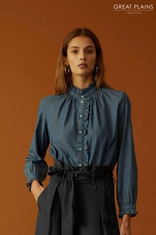 Great Plains Blue Tilly Cotton Shirt