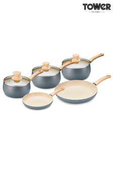 5 Piece Scandi Saucepan Set by Tower