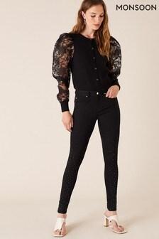 Monsoon Black Nadine Sparkle Leg Jeans