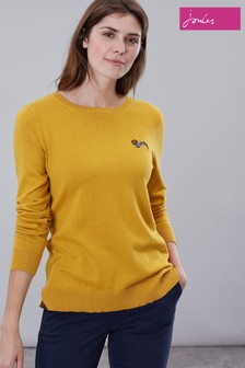 Joules Yellow Tina Crew Neck Jumper