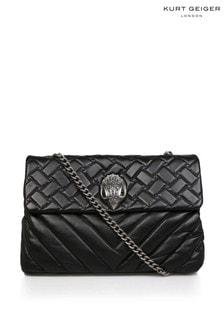 Kurt Geiger London Black XXL Kensington Leather Bag