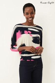 Phase Eight Multi Mari Abstract Stripe Top