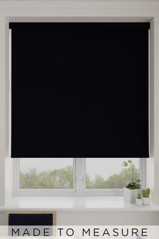 Asher Black Made To Measure Light Filtering Roller Blind