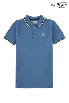 Original Penguin® Blue Contrast Tipping Polo Shirt