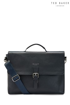 Ted Baker Navy Leather Satchel