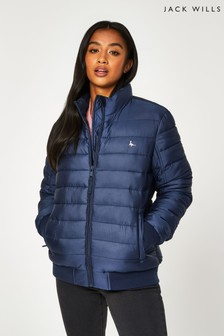Jack Wills Blue Luna Everyday Puffer Lightweight Jacket