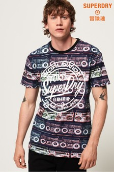 Superdry Ticket Type All Over Print T-Shirt