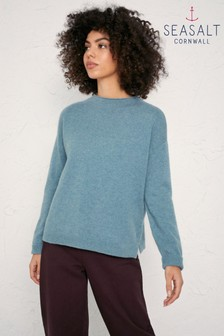 Seasalt Blue Hail Shillings Jumper
