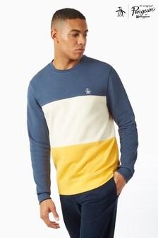 Original Penguin® Colourblock Sweatshirt With Chest Placement Pete The Penguin Logo