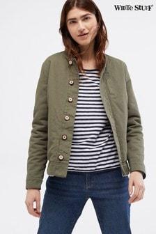 White Stuff綠色/米色雙面外套