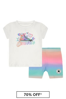 Converse Baby Girls White Outfit