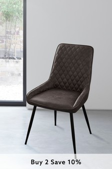Hamilton Single Dining Chair With Black Legs