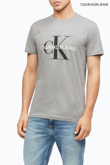 Calvin Klein Jeans Grey Iconic Monogram Slim Fit T-Shirt