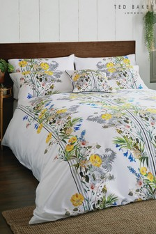 Ted Baker Royal Palm Floral Cotton Duvet Cover and Pillowcase Set