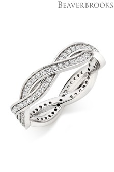 Beaverbrooks Silver Cubic Zirconia Eternity Ring