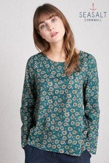 חולצה של Seasalt דגם Dew Drop Delicate Daisy Gust בירוק