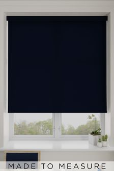 Asher Navy Blue Made To Measure Light Filtering Roller Blind