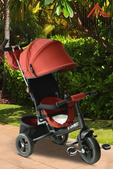 Kids Stroller Tricycle With Parent Push Bar By HOMCOM
