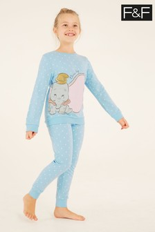 F&F Blue Dumbo Spot Pyjamas