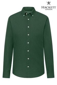 Зеленая оксфордская рубашка зауженного кроя Hackett