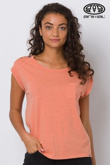 Animal Orange Azina Dip Hem Pocket T-Shirt