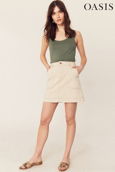 Oasis Cream Cargo Mini Skirt
