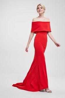 שמלה בגזרת בארדו