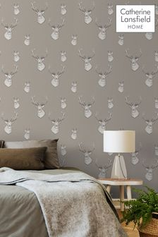 Stag Wallpaper by Catherine Lansfield