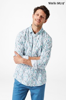 White Stuff White Aquatic Print Shirt