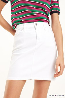 Tommy Hilfiger Rome White Denim Skirt