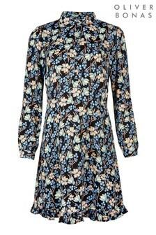 Oliver Bonas Flat Orchid Mini Shirt Dress