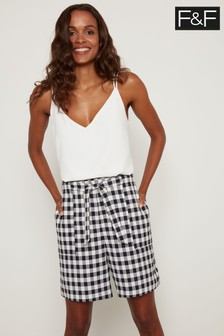 F&F Multi Gingham Shorts