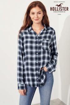 Hollister Plaid Long Sleeve Shirt