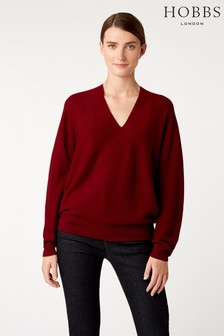 Hobbs Red Emma Seamless Sweater
