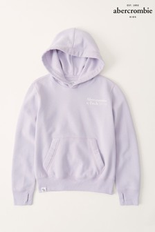 Abercrombie & Fitch Logo Detail Hoodie