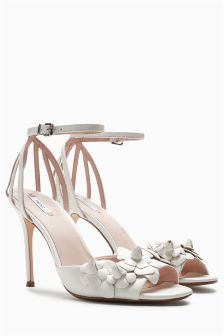Leather Flower Bridal Sandals