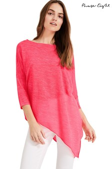 Phase Eight Pink Pearla Linen Knit Jumper