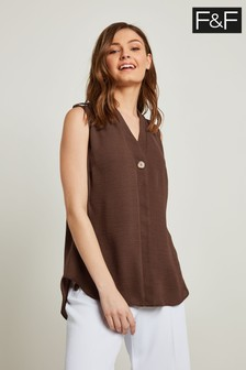 F&F Chocolate Chocolate Utility Shell Top