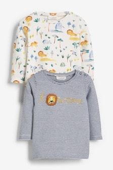 Dwie koszulki ze streczem, z motywami postaci (0m-cy-3lata)