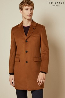 Ted Baker Tan Mariano Cashmere Blend Overcoat