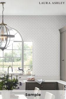 Laura Ashley Mr Jones Paintable Wallpaper Sample