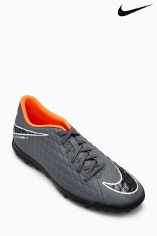 Nike Grey/Orange Hypervenom Phantom Turf