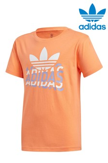 adidas Originals Orange Graphic T-Shirt