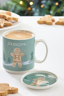 Gingerbread Family Grandpa Mug & Coaster