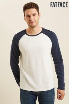 FatFace Blue Blakeney Slub Raglan T-Shirt