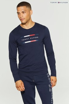 Tommy Hilfiger Blue Corporate Long Sleeve T-Shirt