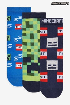 3 Pack Cotton Rich Minecraft Socks (Older)