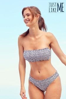 Shirred Bandeau Bikini Top