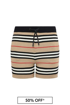 Burberry Kids Baby Boys Beige Cotton Shorts