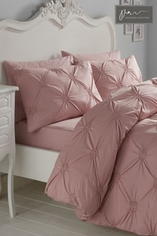 Signature Elissa Cotton Textured Duvet Cover and Pillowcase Set